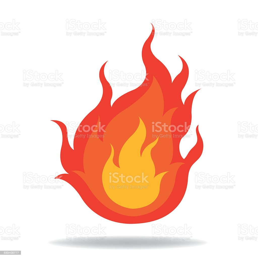 Fire icon vector art illustration
