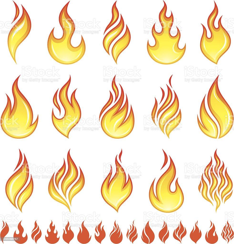 Fire icons vector art illustration