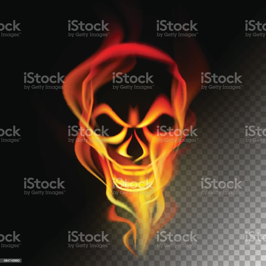 Fire in skull shape royalty-free stock vector art