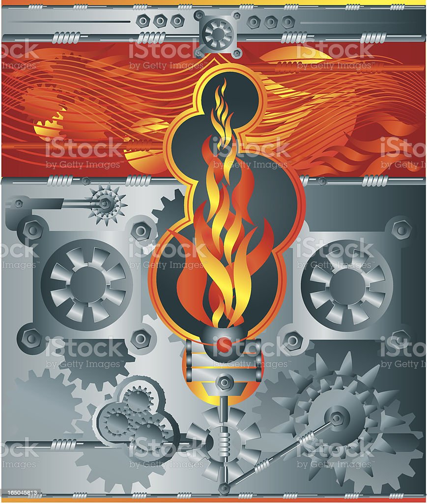 Fire - industrial works royalty-free stock vector art