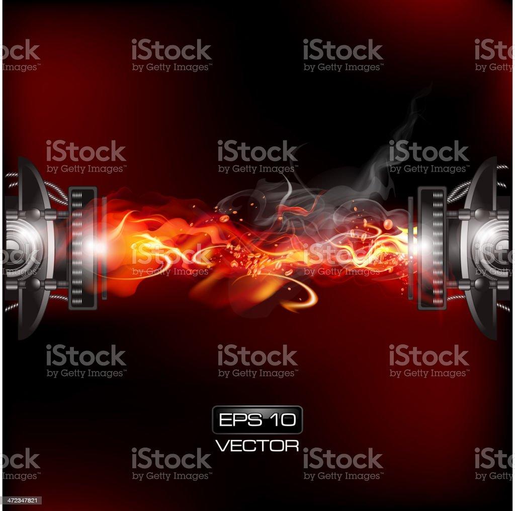 Fire mechanism royalty-free stock vector art