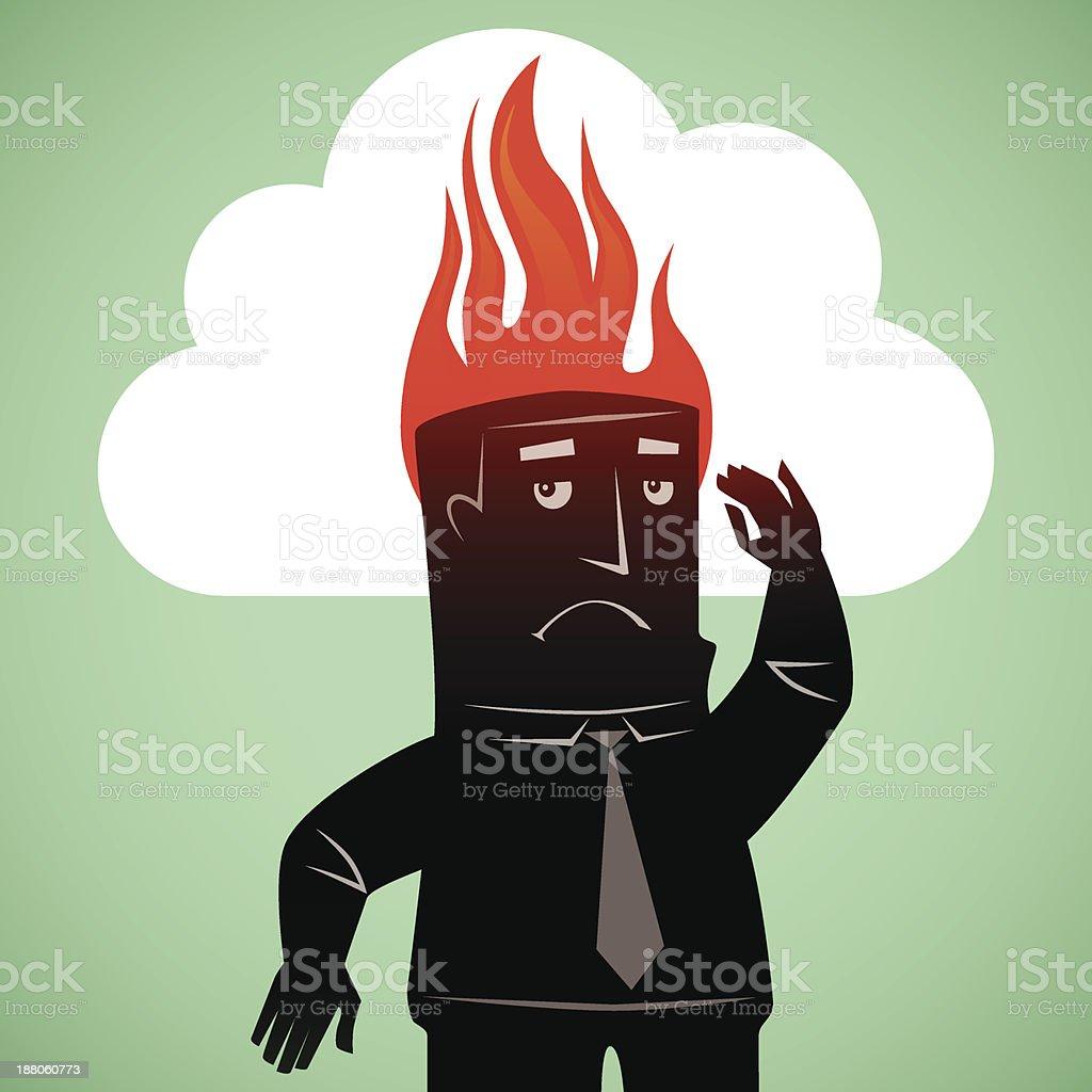fire on head royalty-free stock vector art