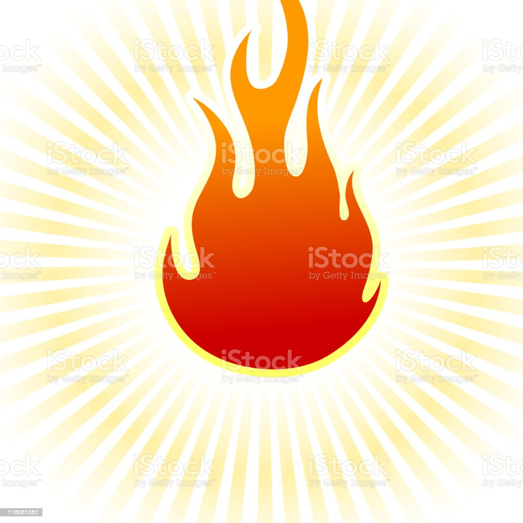 fire on royalty free vector Background with glow effect vector art illustration