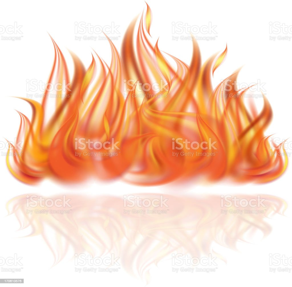 Fire on white background. royalty-free stock vector art