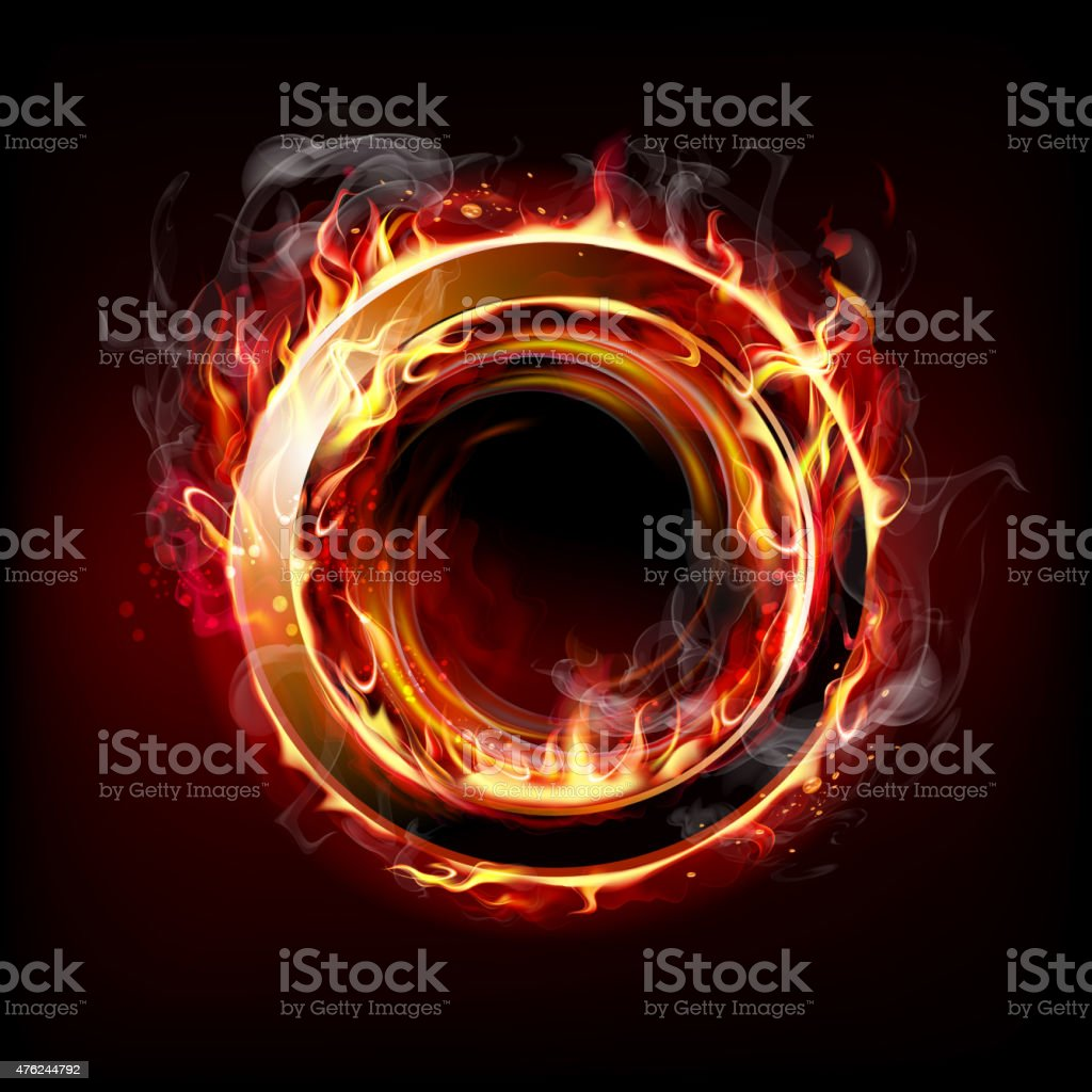 Fire ring vector art illustration