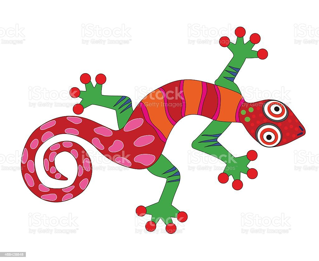 Fire salamander vector art illustration
