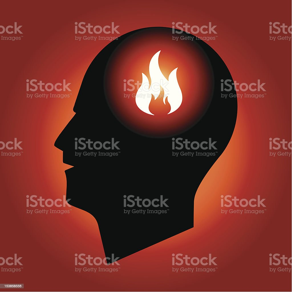 Fire Sign in Human Head royalty-free stock vector art