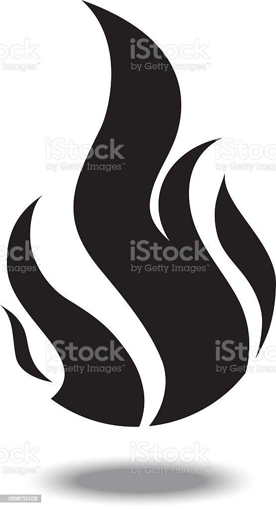 Fire sign vector art illustration