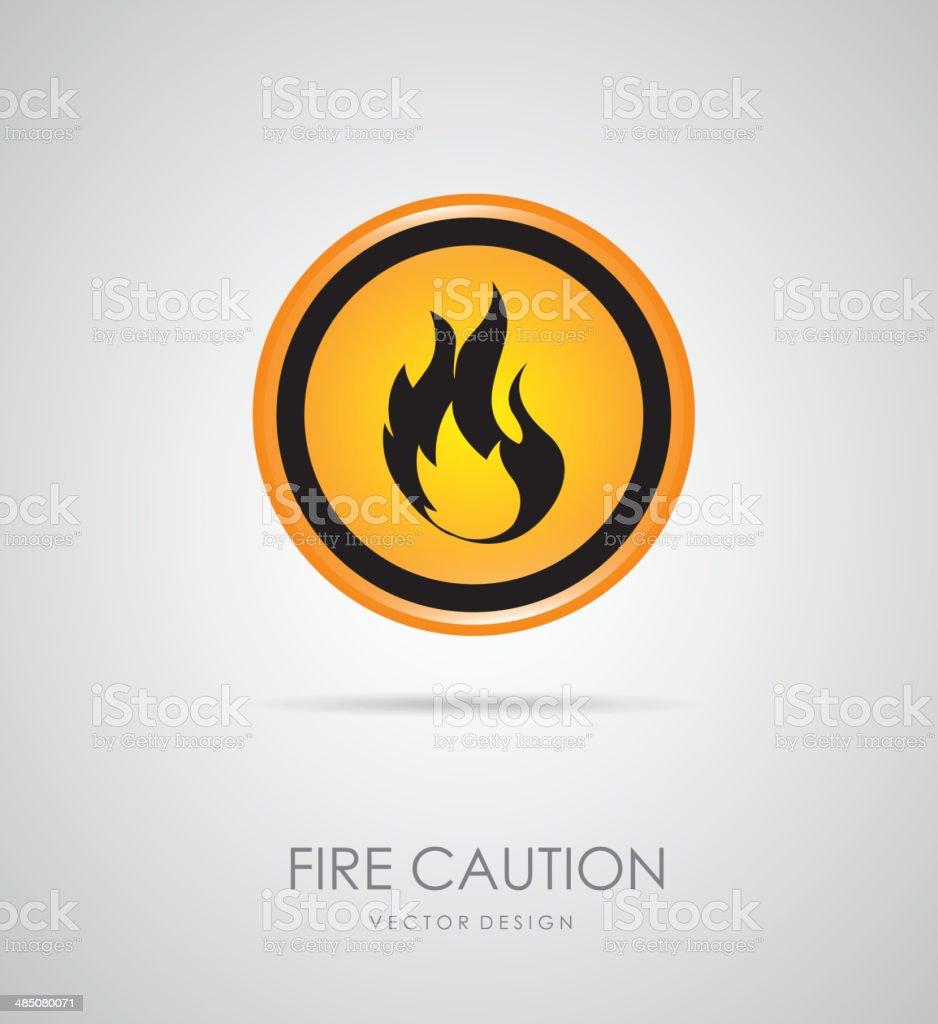 fire signal vector art illustration
