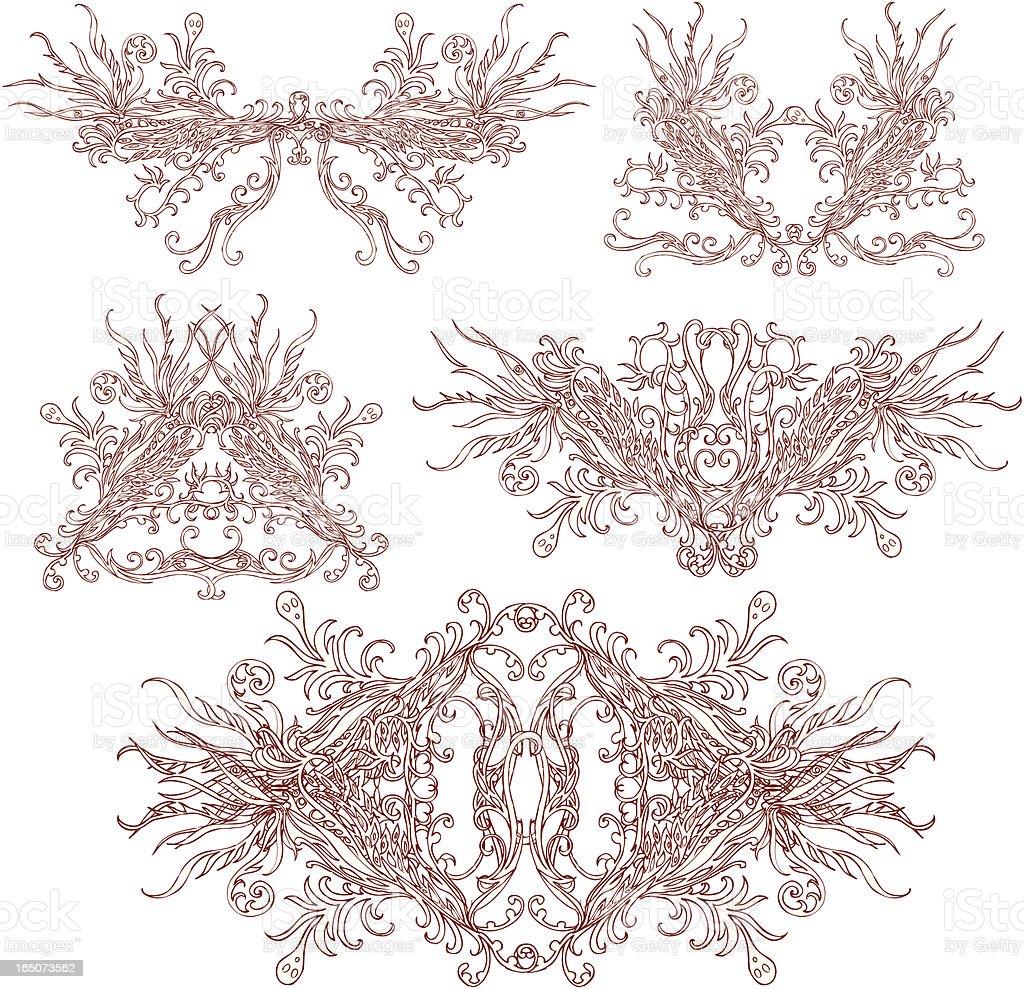 fire snake Ornamenten Lizenzfreies vektor illustration