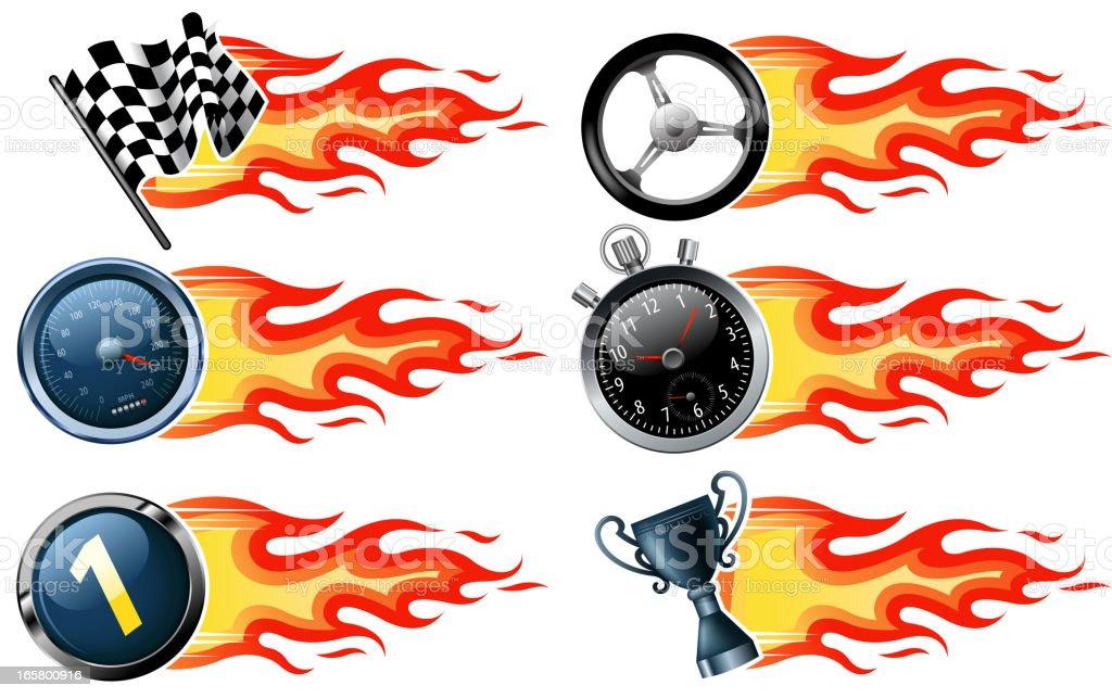 fire speed banners vector art illustration