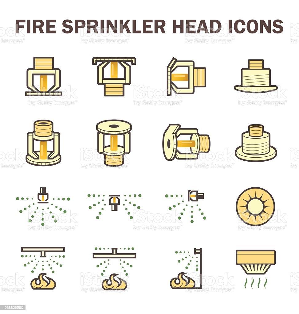 Fire sprinkler icon vector art illustration