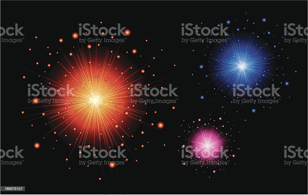 fire starburst royalty-free stock vector art