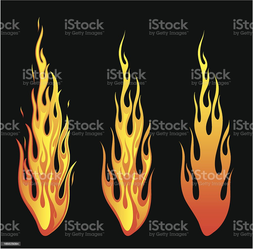 fire stickers vector art illustration