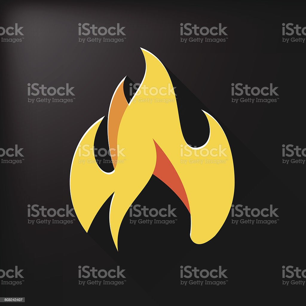 Fire symbol vector art illustration