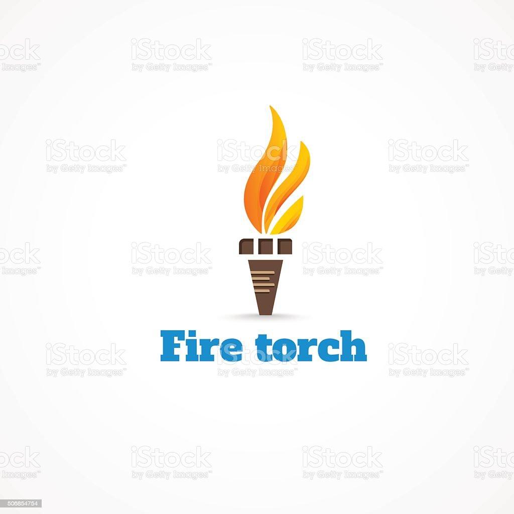 Fire torch. vector art illustration