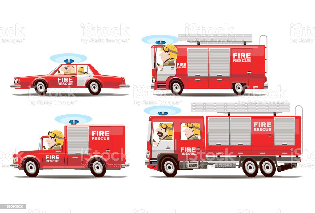 Fire transport royalty-free stock vector art