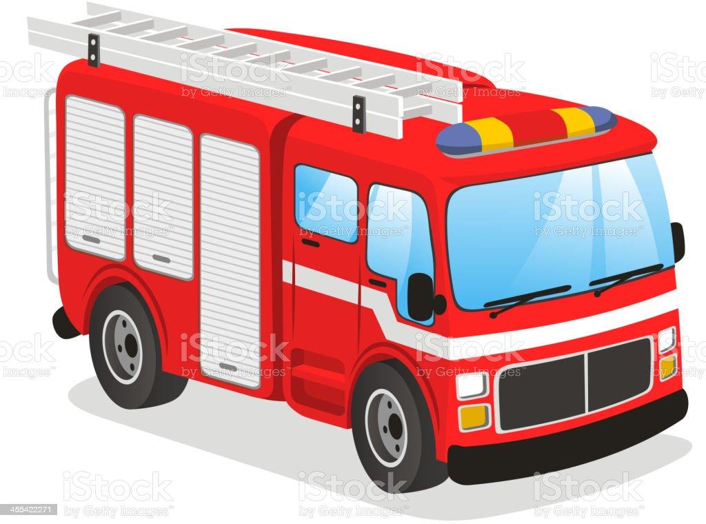 Fire truck royalty-free stock vector art