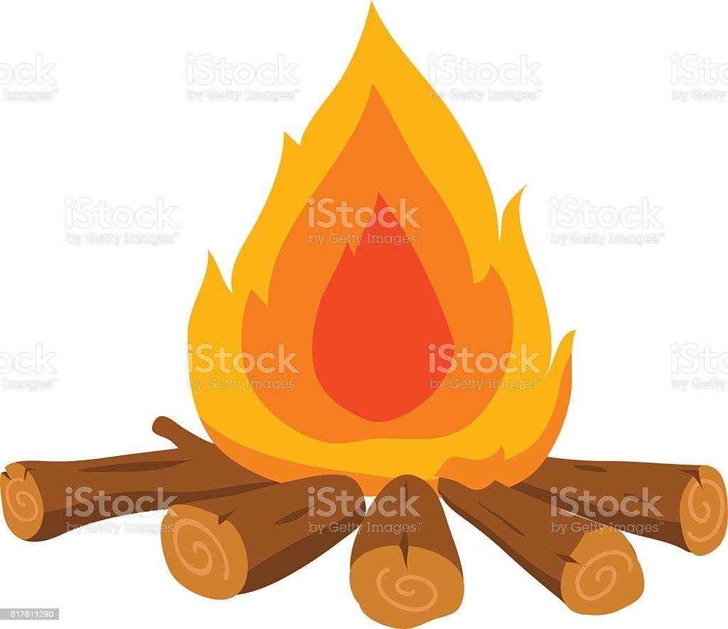 fire vector cartoon vector art illustration