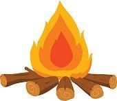 fire vector cartoon