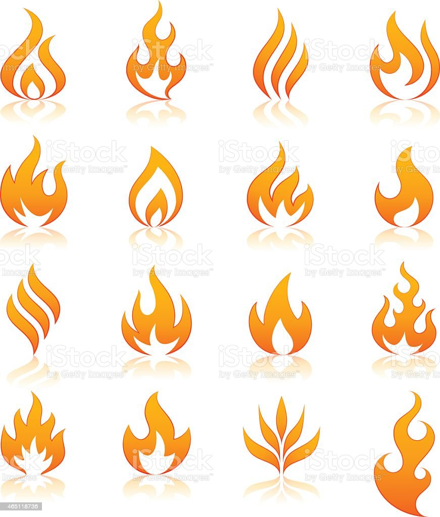 fire vector icons vector art illustration