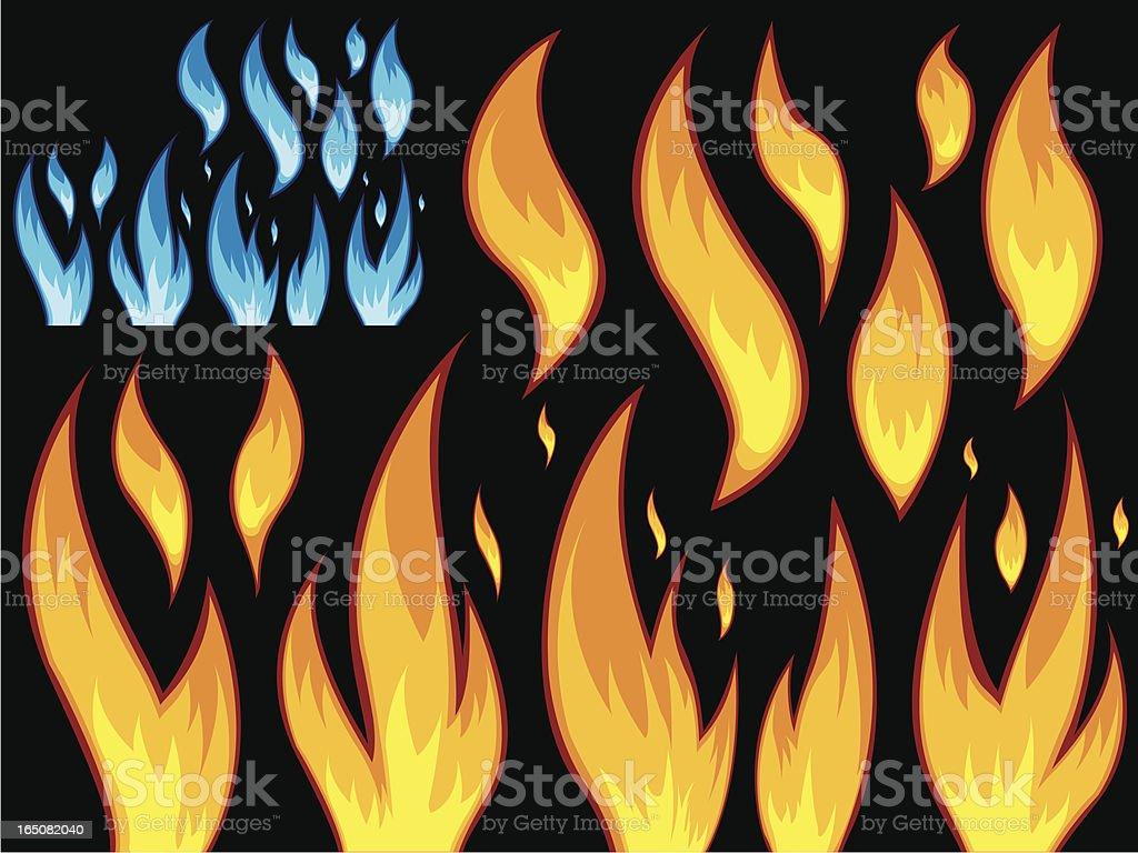 fire vector art illustration