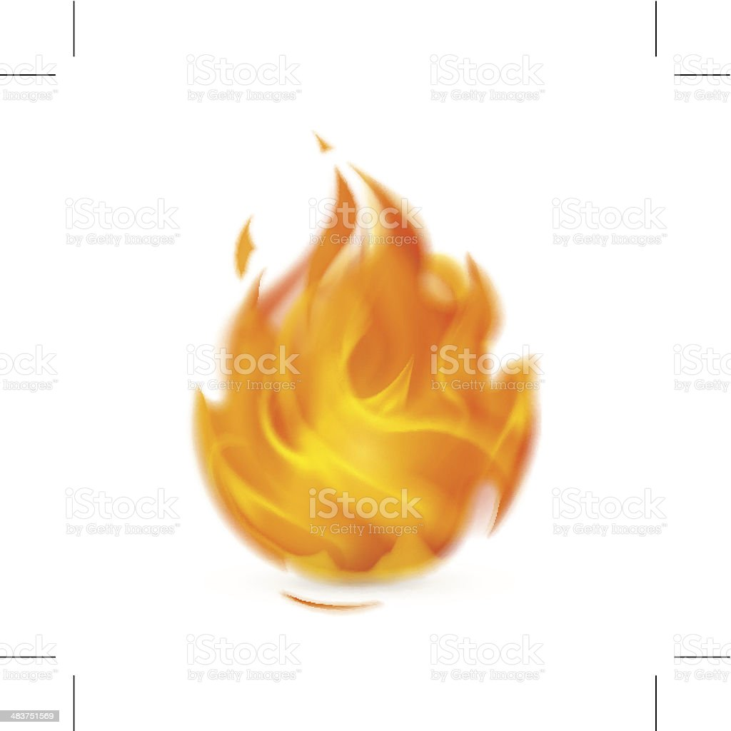 Fire vector art illustration