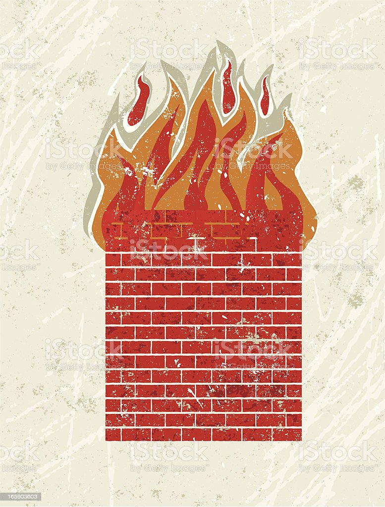 Fire Wall royalty-free stock vector art