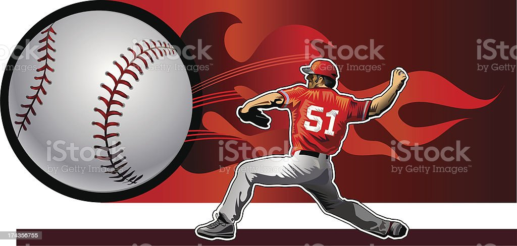 fireball vector art illustration