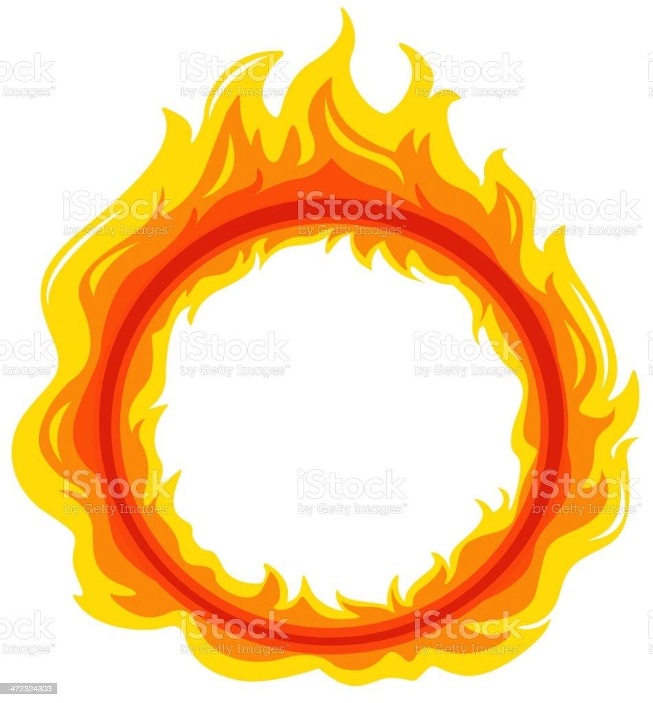 fireball vector art illustration