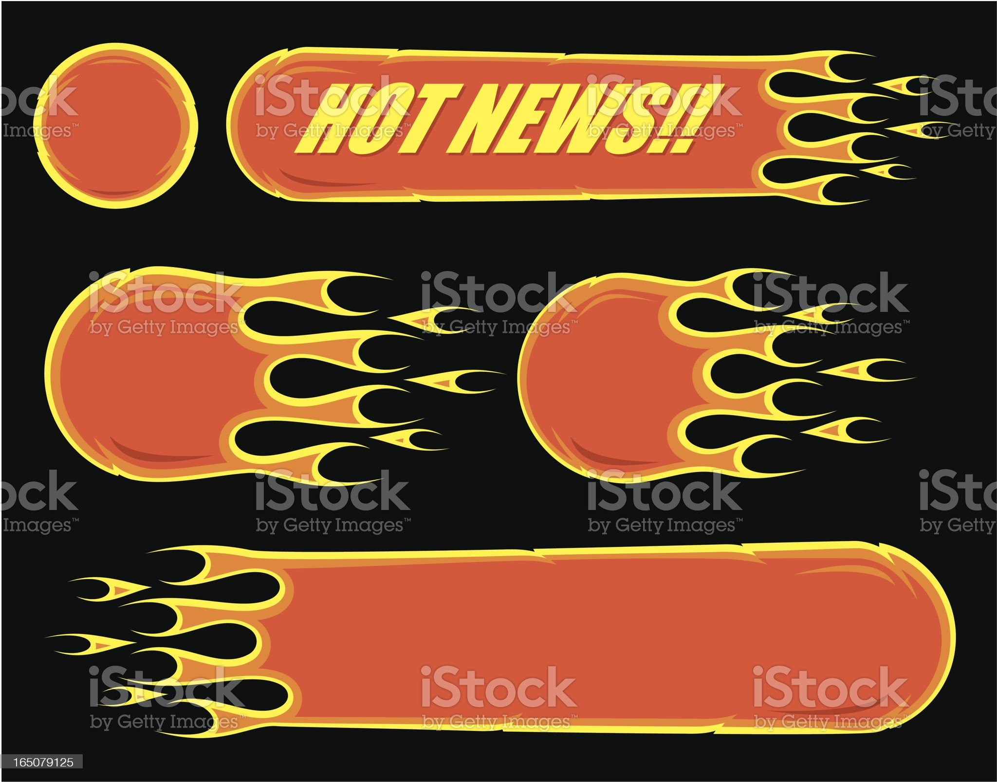 Fireballs royalty-free stock vector art