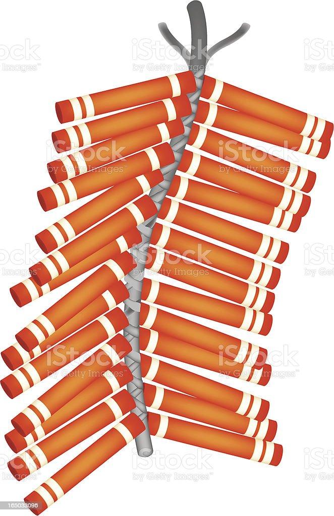 firecrackers royalty-free stock vector art