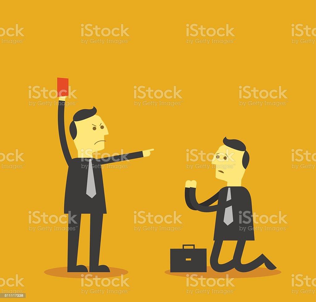 fired job vector art illustration