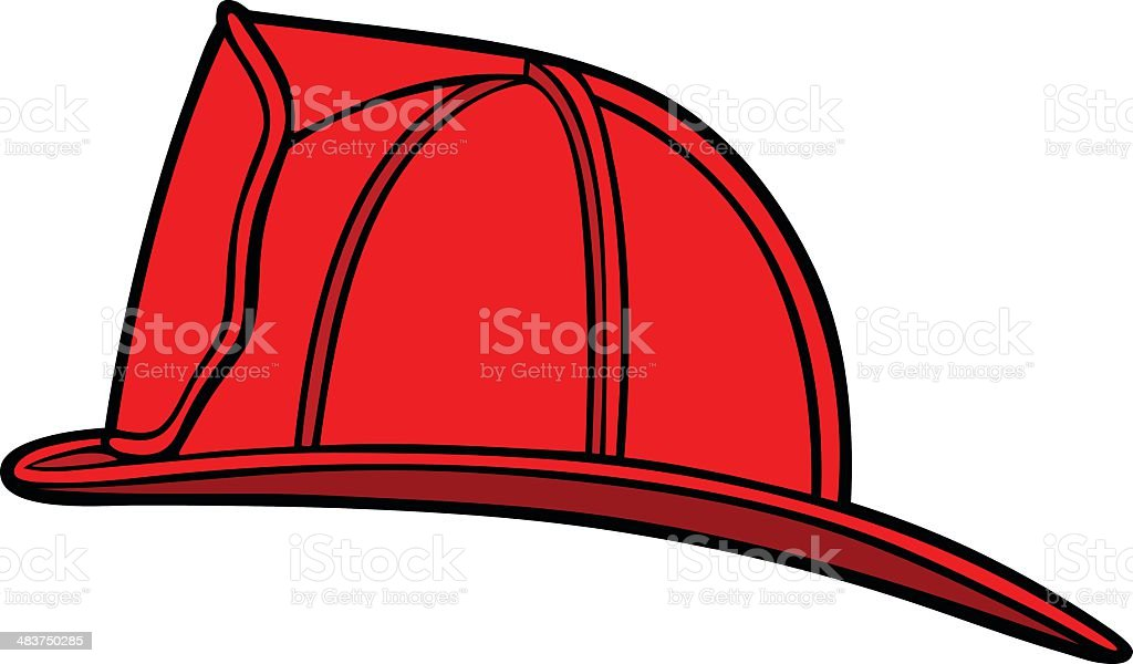 Firefighter Helmet vector art illustration