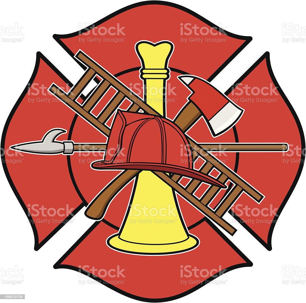 Firefighter Honor Badge vector art illustration