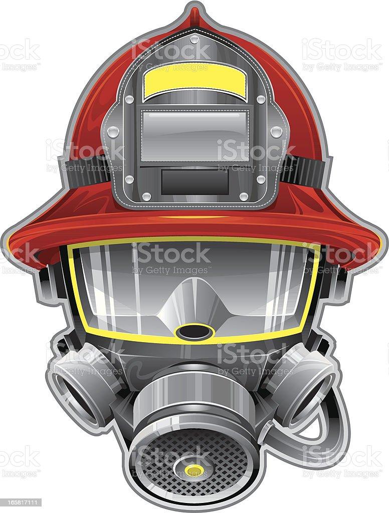 Firefighter mask royalty-free stock vector art