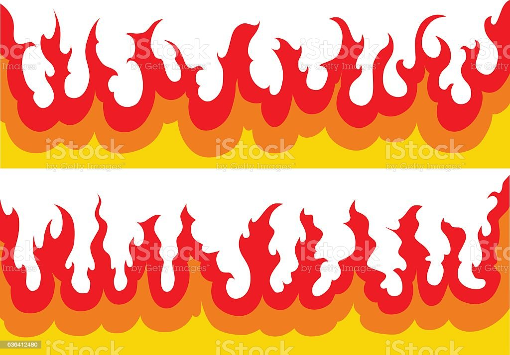 Fire-Flames Graphic vector art illustration