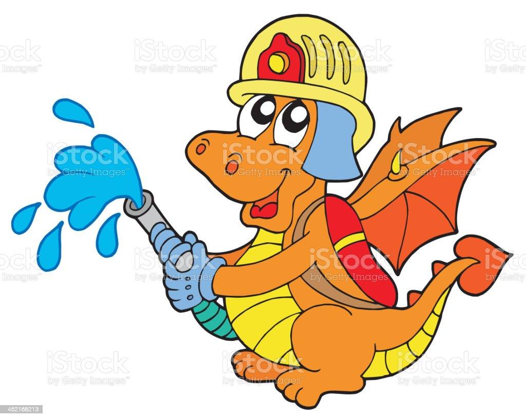 Fireman dragon royalty-free stock vector art