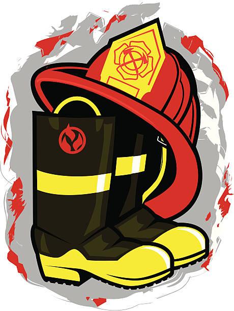 Firefighter Helmet Clip Art, Vector Images & Illustrations - iStock