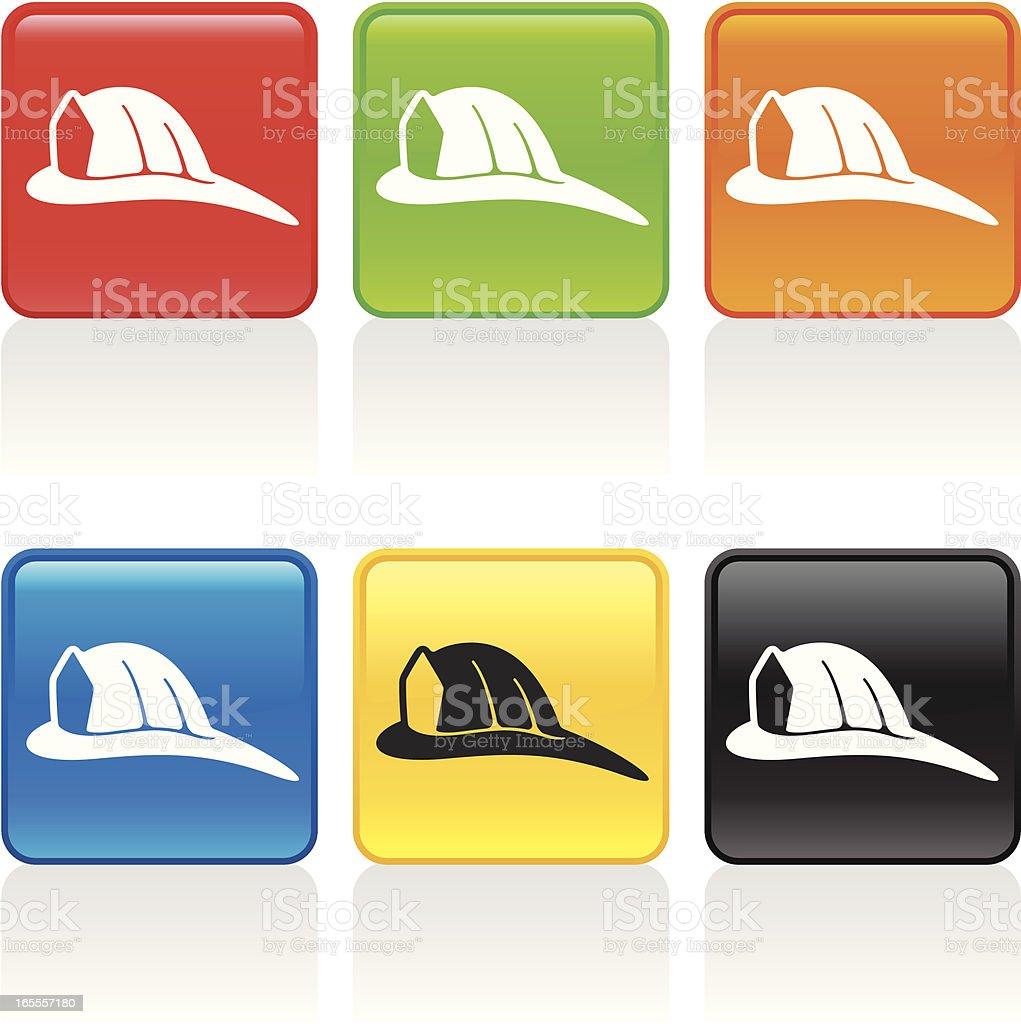 Firemans Hat Icon vector art illustration