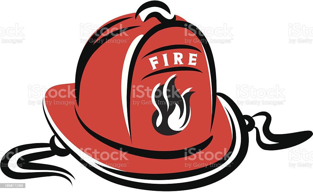 Fireman's Helmet royalty-free stock vector art
