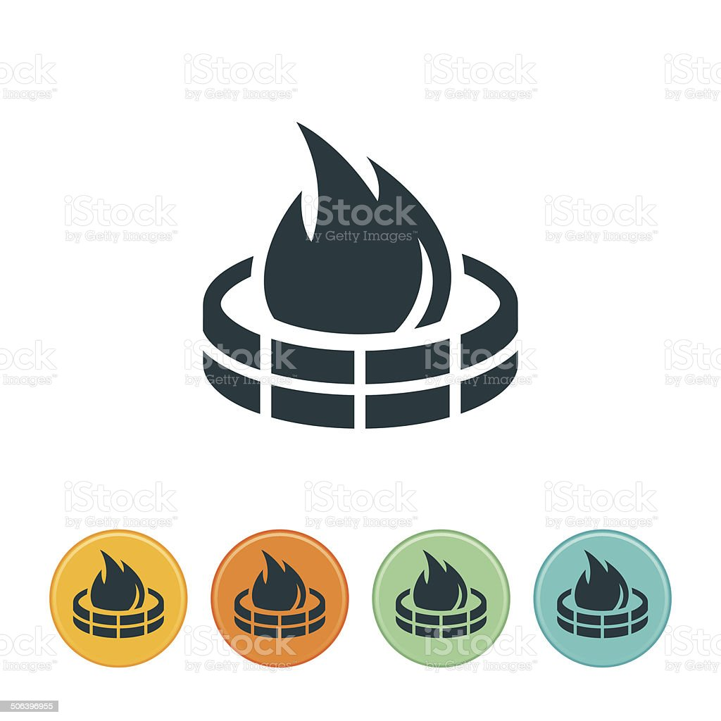 Firepit Icon vector art illustration