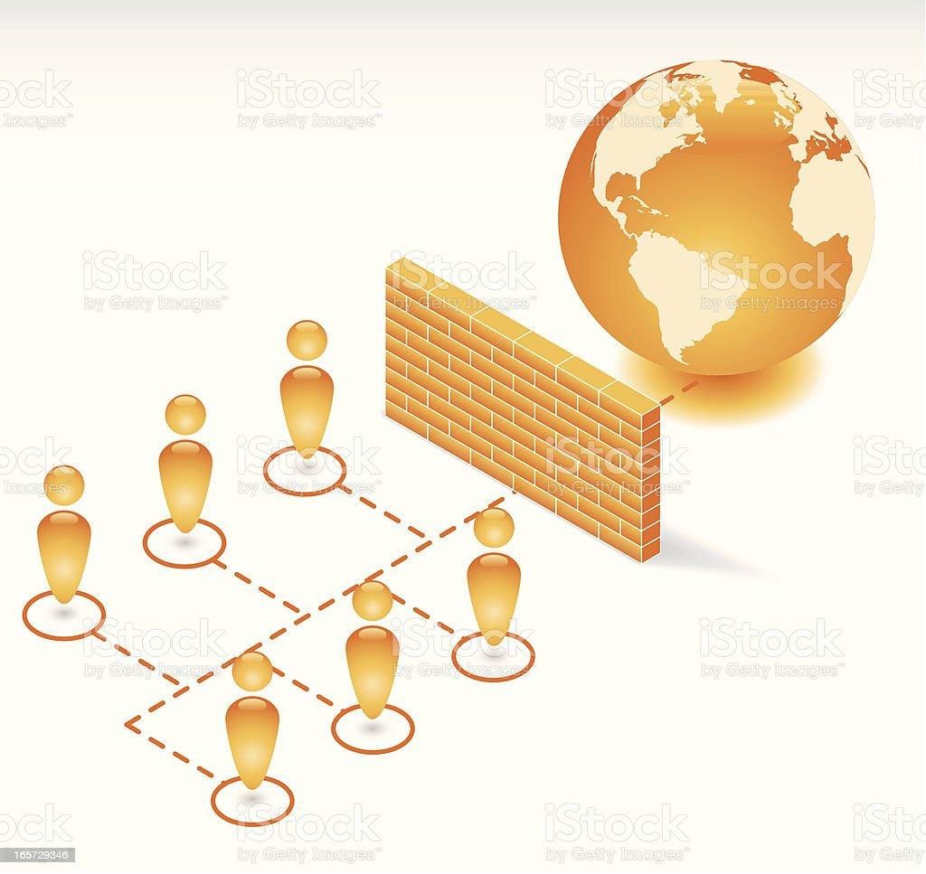 Firewall royalty-free stock vector art