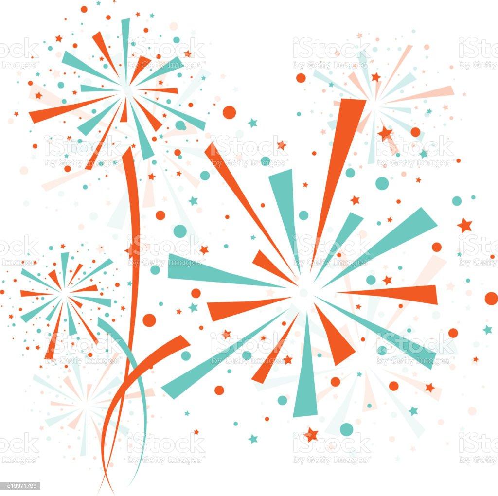 Firework color vector art illustration