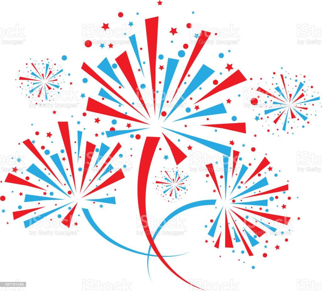 Firework on white vector art illustration