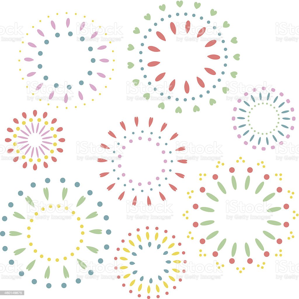 Firework Pattern vector art illustration