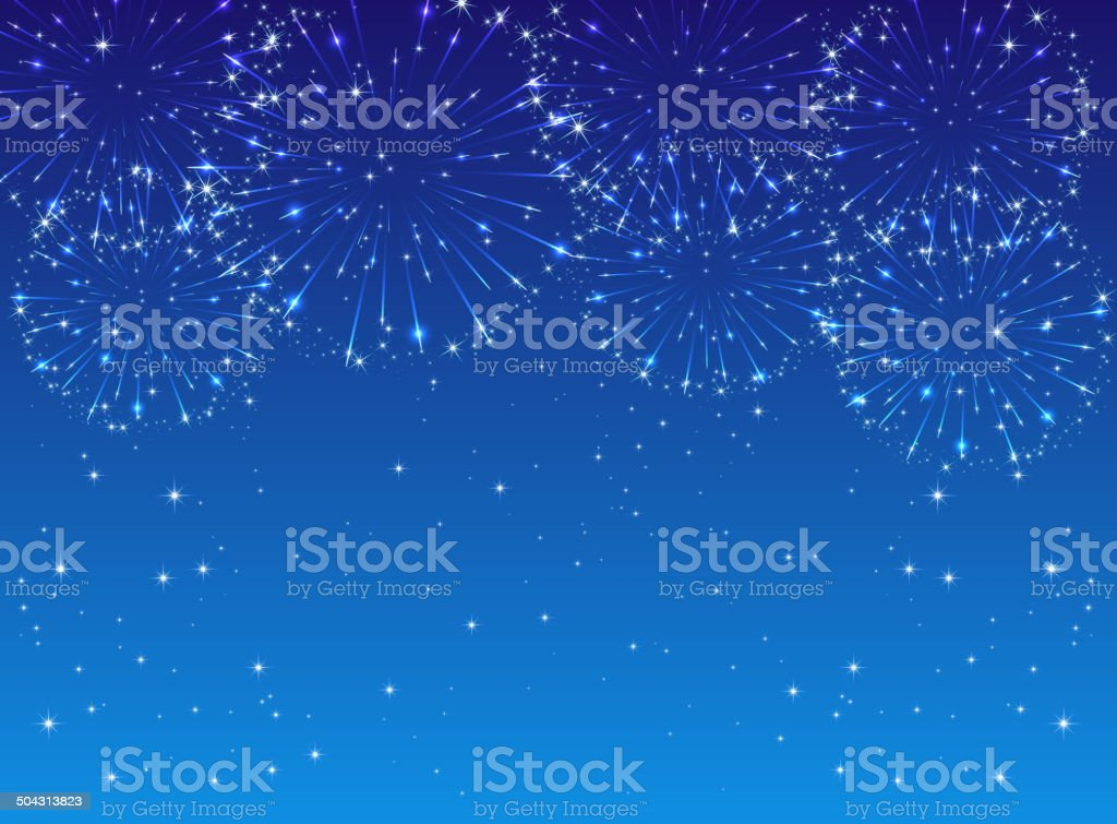 Firework vector art illustration