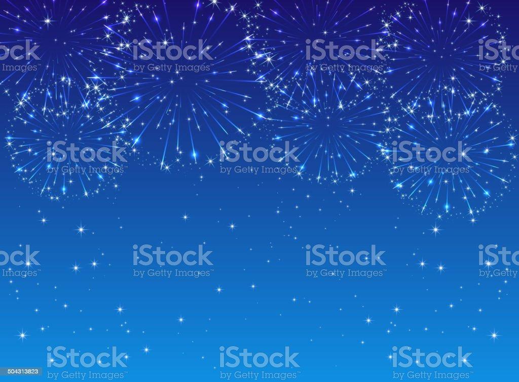 Firework vector art illustration