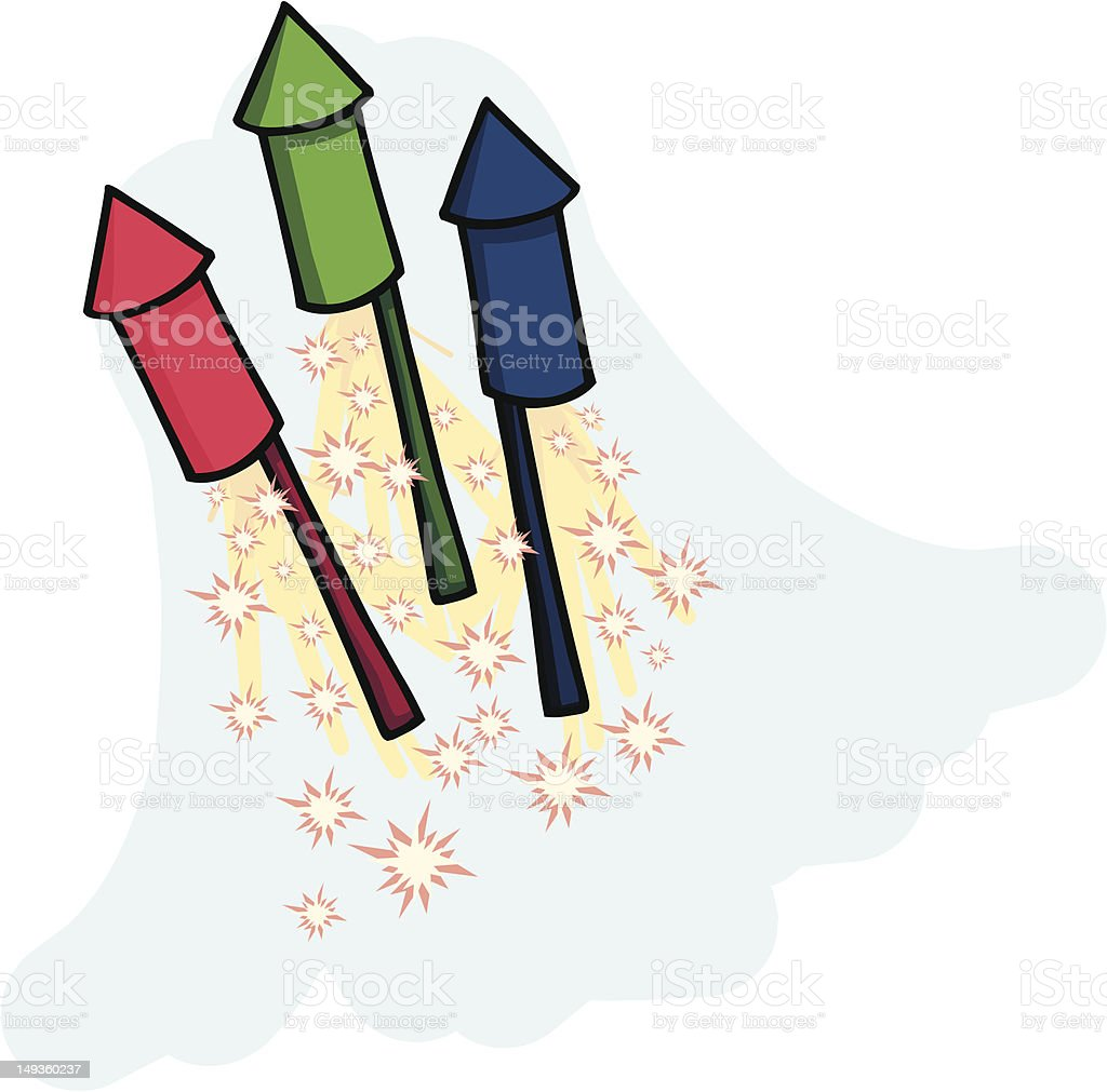 Fireworks 1 royalty-free stock vector art