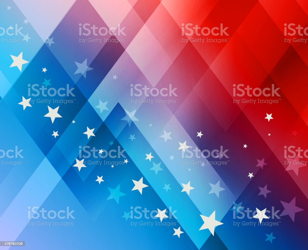 Fireworks background for 4th of July vector art illustration